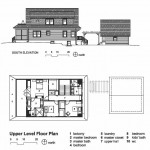 cottage upper level floorplan and elevation