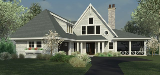 Sharratt Design & Company Transitional Shingle-Style Cottage