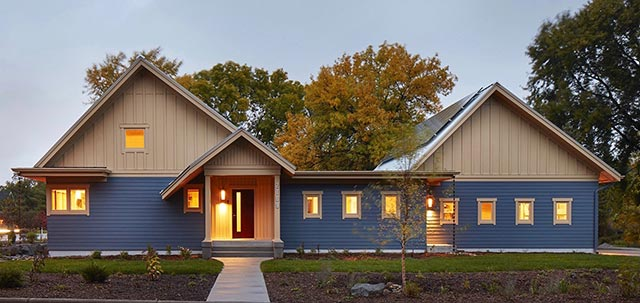 Thoughtful design creates a   sustainable haven for the homeowners who are passionate about energy conservation.